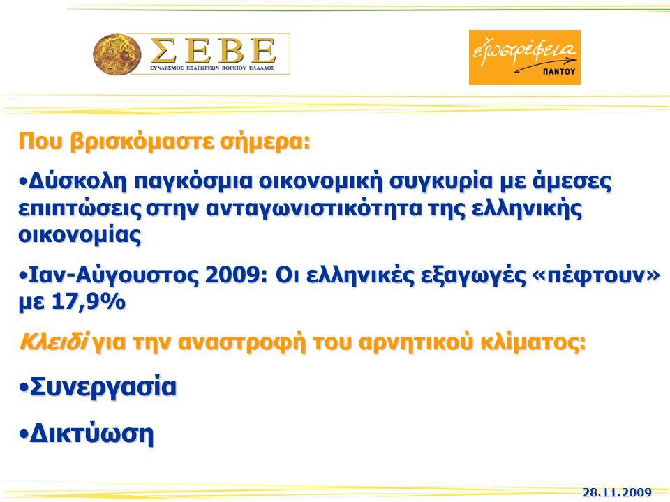 Που βρισκόμαστε σήμερα: Δύσκολη παγκόσμια οικονομική συγκυρία με άμεσες επιπτώσεις στην ανταγωνιστικότητα της ελληνικής οικονομίαςΔύσκολη παγκόσμια οι