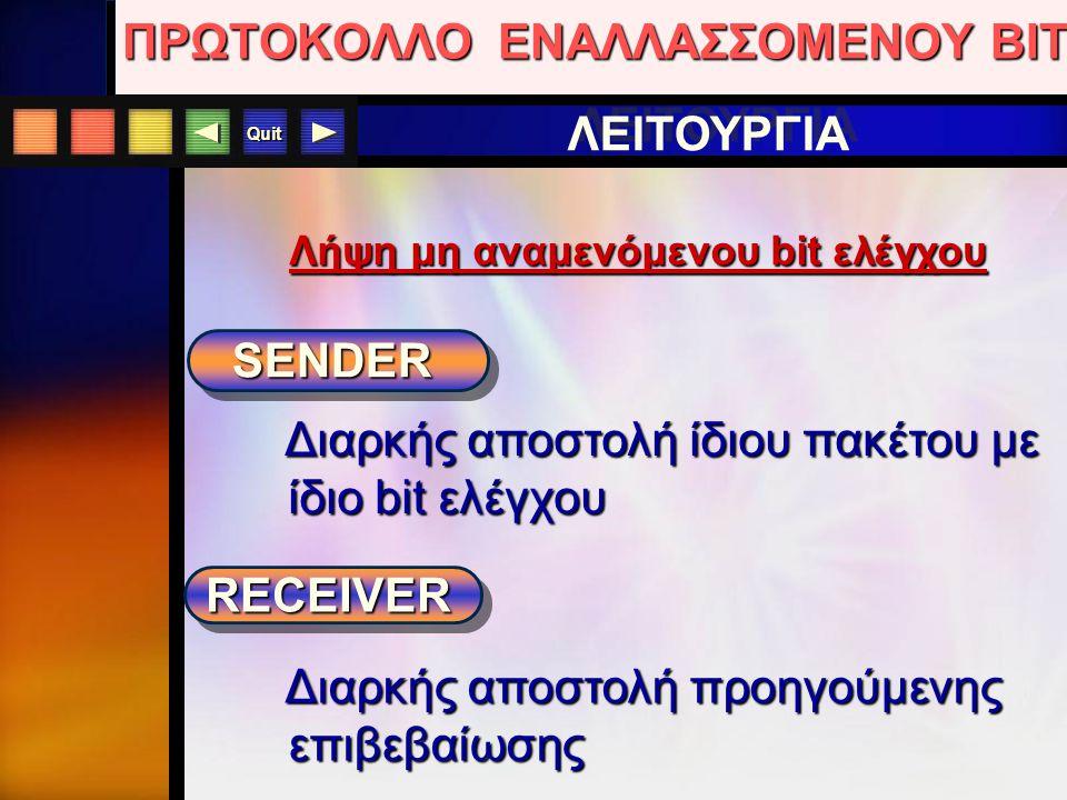 Quit SENDER ΠΑΡΑΔΕΙΓΜΑ