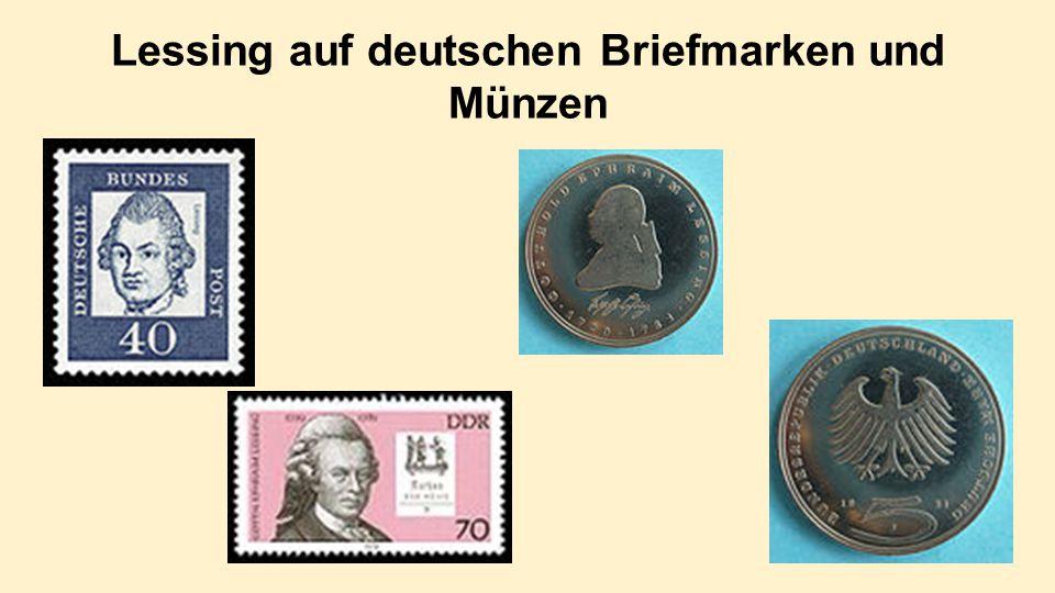 Lessing auf deutschen Briefmarken und Münzen