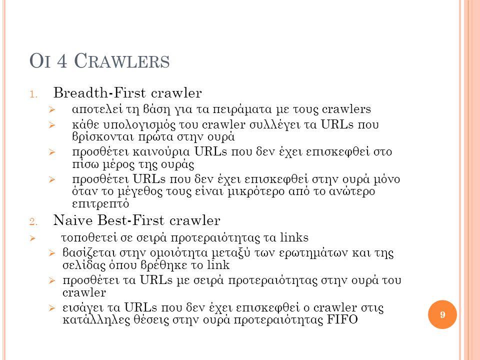 3.DOM (Document Object Model) crawler  χρησιμοποιεί τη δομή μιας HTML ιστοσελίδας, δηλ.