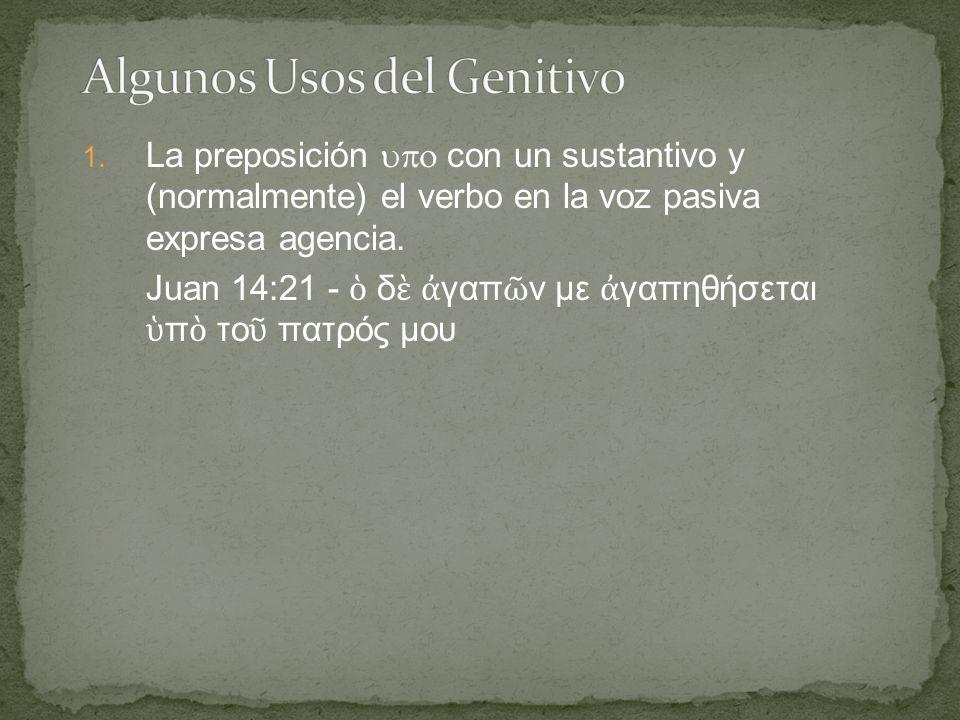 1. La preposición  con un sustantivo y (normalmente) el verbo en la voz pasiva expresa agencia.