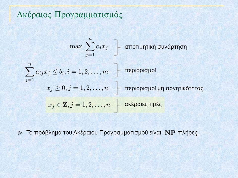 Ακέραιος Προγραμματισμός TexPoint fonts used in EMF.