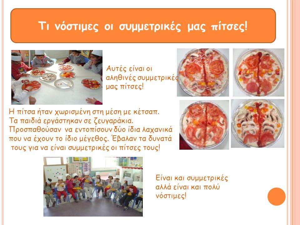 Τι νόστιμες οι συμμετρικές μας πίτσες! Αυτές είναι οι αληθινές συμμετρικές μας πίτσες! Είναι και συμμετρικές αλλά είναι και πολύ νόστιμες! Η πίτσα ήτα