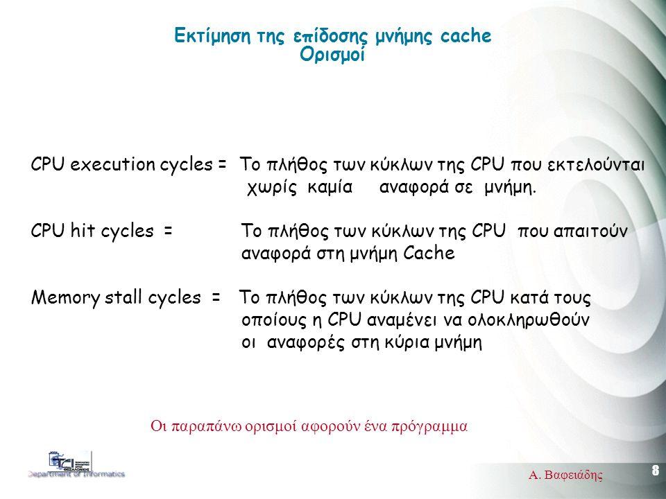 19 Α. Βαφειάδης Pentium IV cache system
