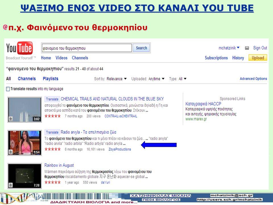 Κατέβασμα και αποθήκευση video ΧΡΗΣΗ ΤΟΥ ΠΡΟΓΡΑΜΜΑΤΟΣ YouTube Downloader