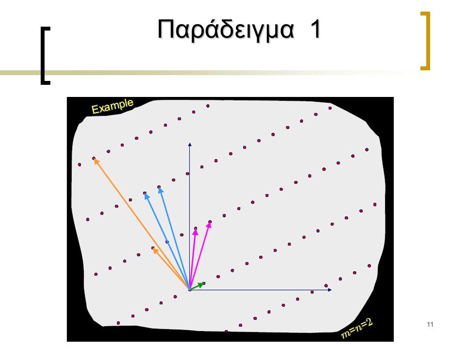 11 Παράδειγμα 1 Παράδειγμα 1