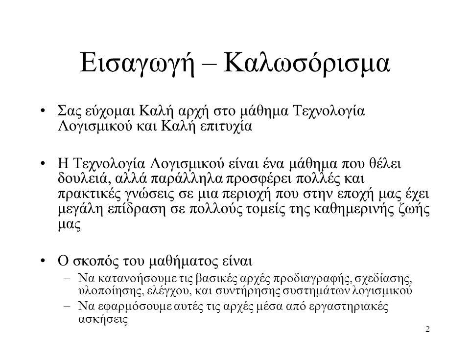 3 Στοιχεία Επικοινωνίας Κώστας Κοντογιάννης –Ηλ.Ταχυδρ: kkontog@softlab.ntua.gr –Tηλ.