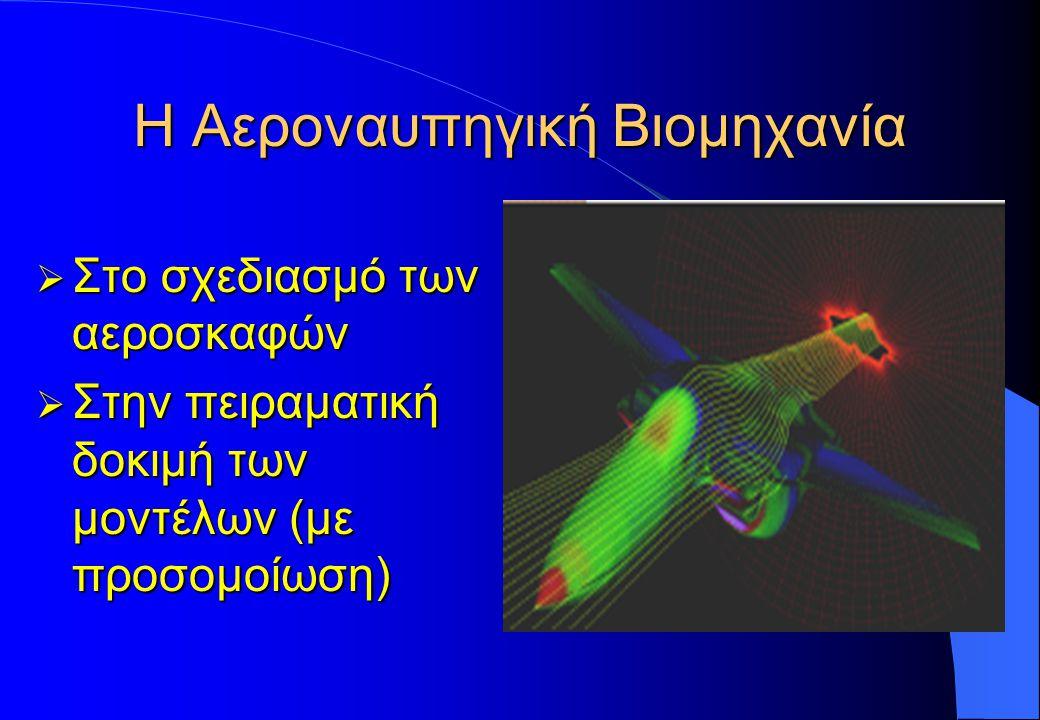 Η Αεροναυπηγική Βιομηχανία  Στο σχεδιασμό των αεροσκαφών  Στην πειραματική δοκιμή των μοντέλων (με προσομοίωση)