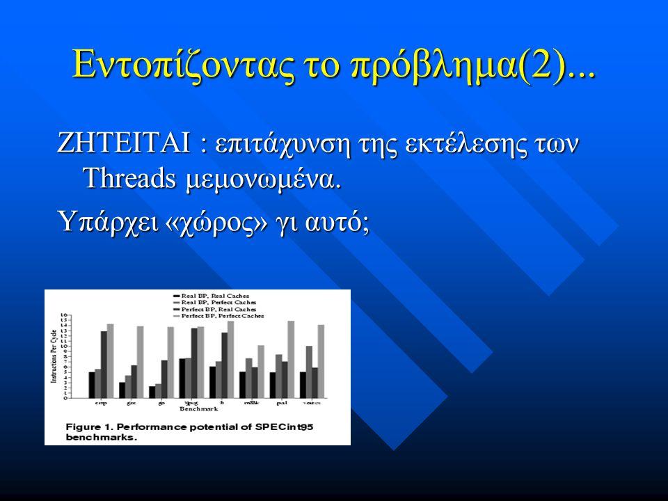 Εντοπίζοντας το πρόβλημα(2)... ΖΗΤΕΙΤΑΙ : επιτάχυνση της εκτέλεσης των Threads μεμονωμένα.