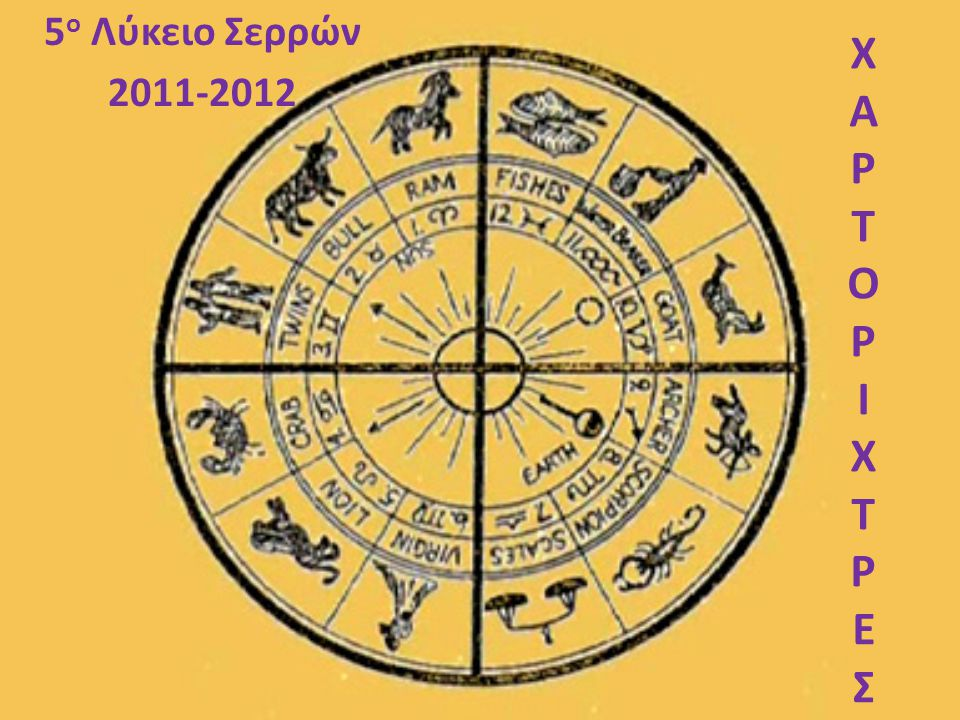 Θέμα: Μελλοντολογικές Προβλέψεις και Επιδράσεις στην Καθημερινή Ζωή Υπόθεμα: Ζωδιακός Κύκλος- Συμβολισμοί και Σχέσεις Αστρολογίας-Αστρονομίας