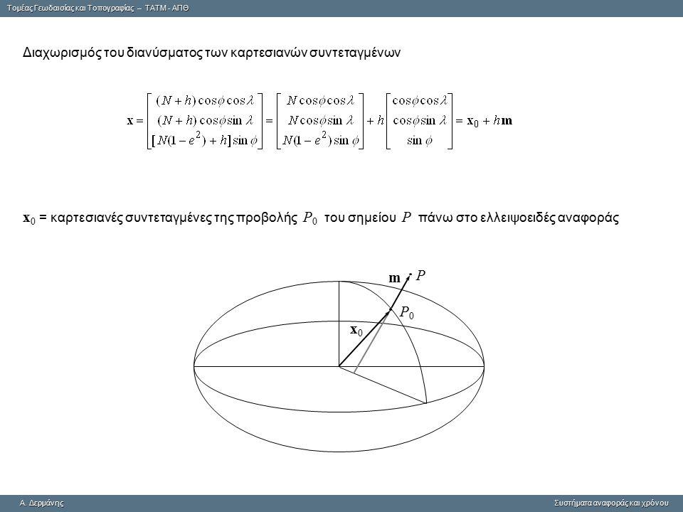 Tομέας Γεωδαισίας και Τοπογραφίας – ΤΑΤΜ - ΑΠΘ A. ΔερμάνηςΣυστήματα αναφοράς και χρόνου A. Δερμάνης Συστήματα αναφοράς και χρόνου Διαχωρισμός του διαν