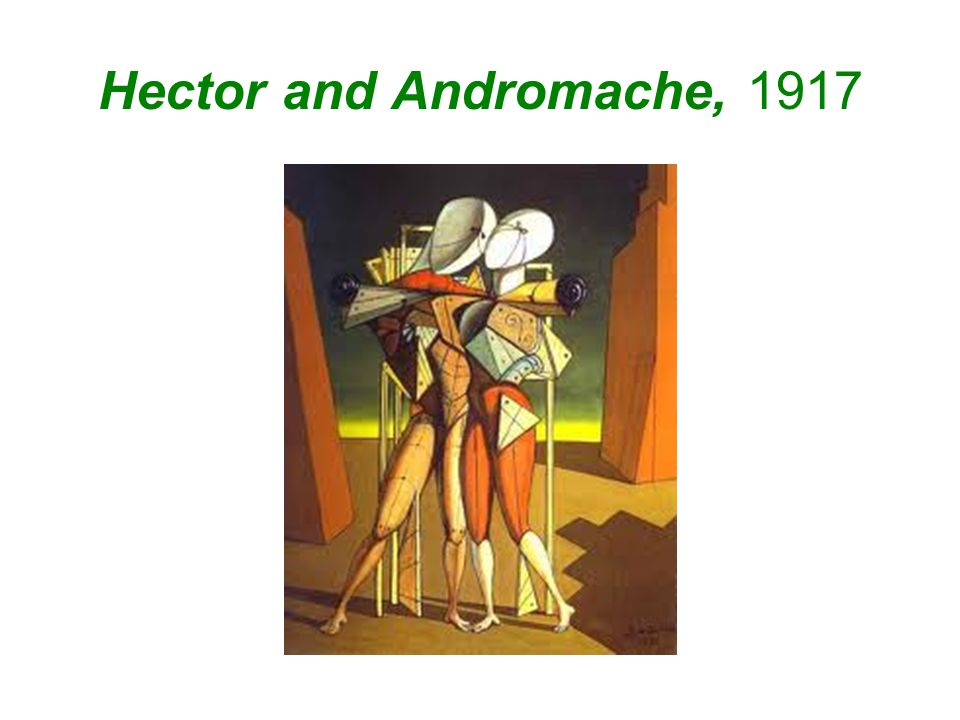 Hector and Andromache, 1917