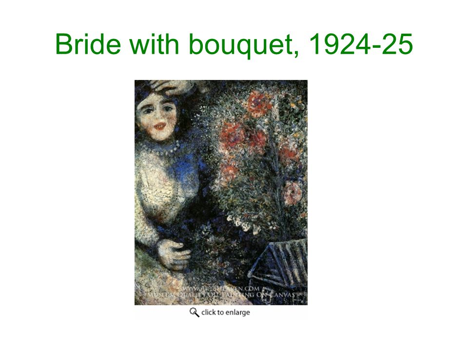 Bride with bouquet, 1924-25