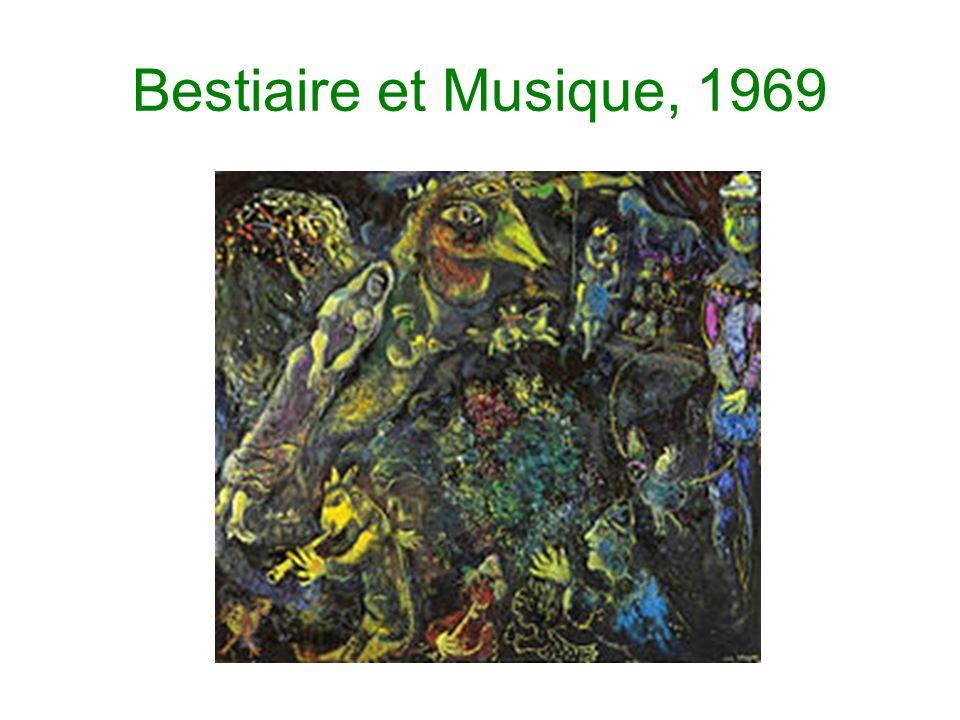 Bestiaire et Musique, 1969