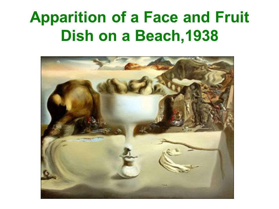 Apparition of a Face and Fruit Dish on a Beach,1938