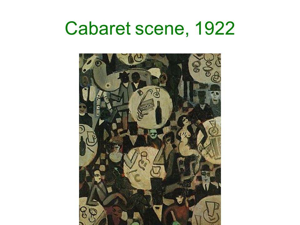 Cabaret scene, 1922