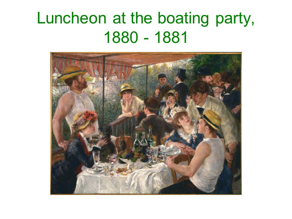 Luncheon at the boating party, 1880 - 1881