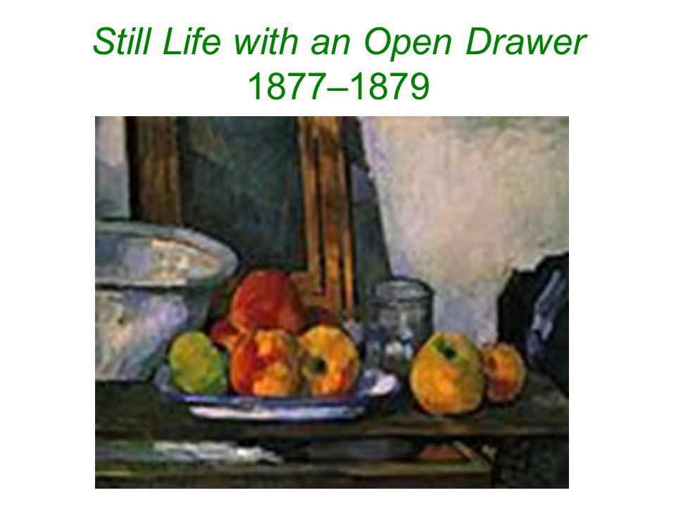Still Life with an Open Drawer 1877–1879