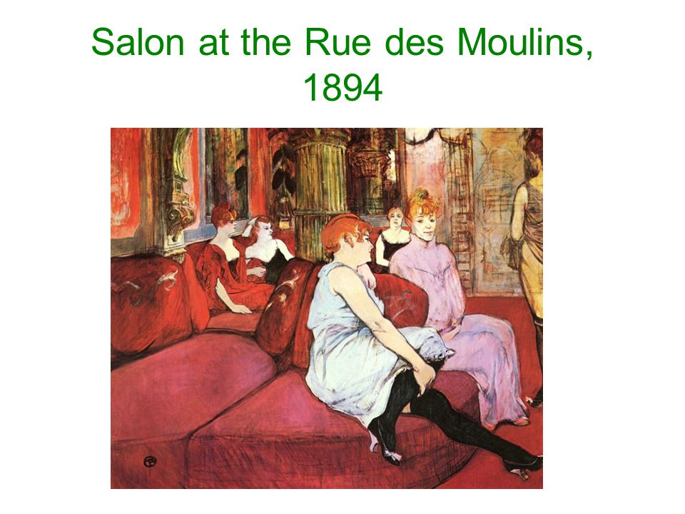 Salon at the Rue des Moulins, 1894