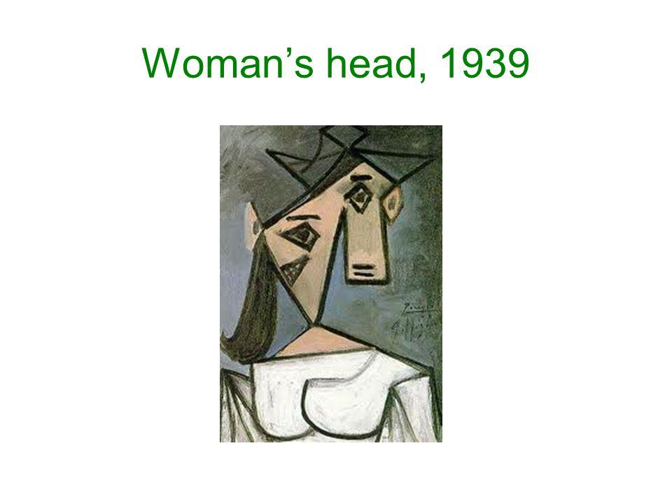 Woman's head, 1939