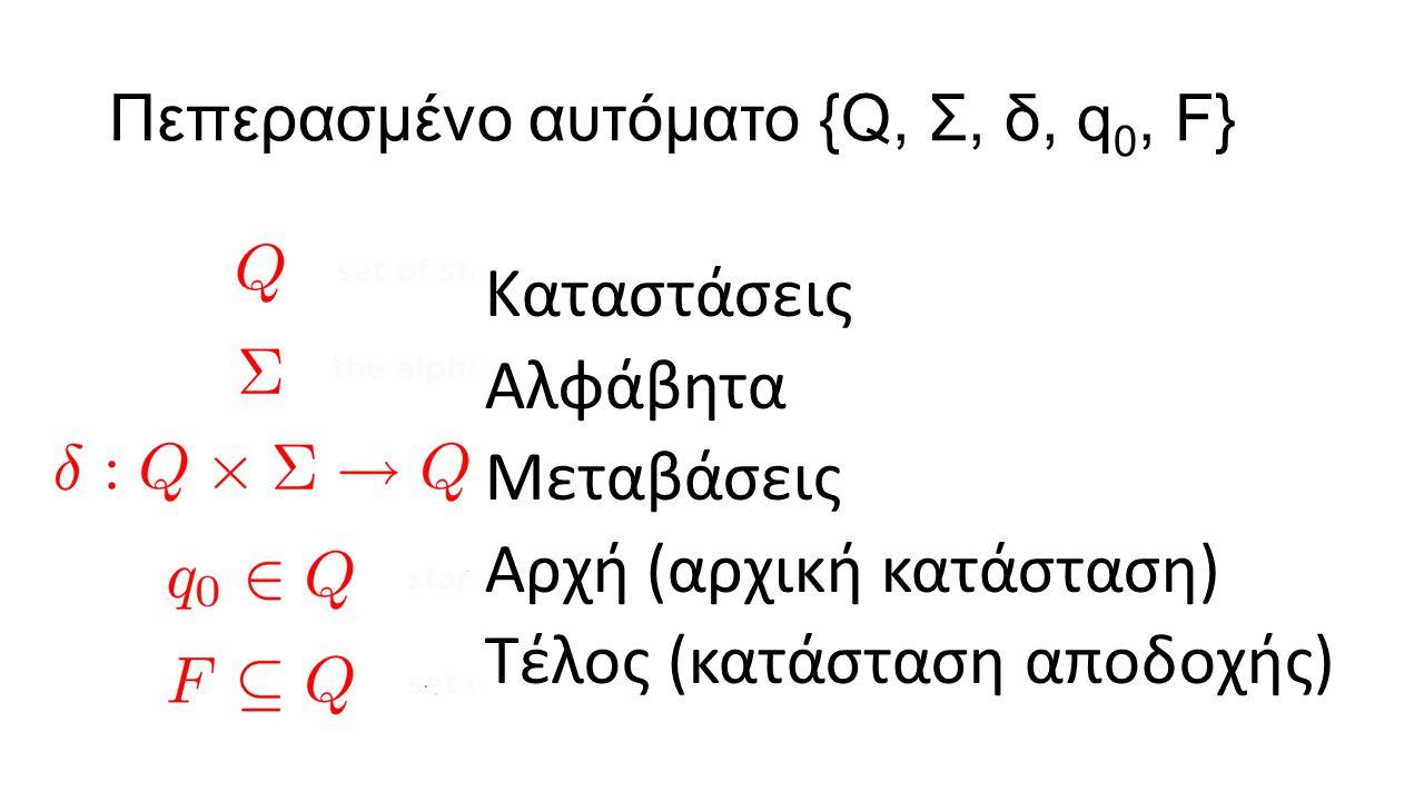 Περιγραφή Αυτομάτων Λεκτική Οπτική (γράφος) Αυστηρή (μαθηματική)