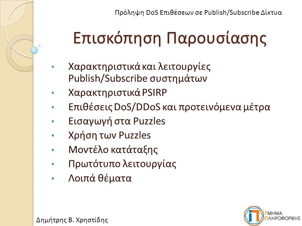 Λειτουργία των Puzzles (2) Πρότυπο επικοινωνίας και χρήσης Puzzle Δημήτρης Β.