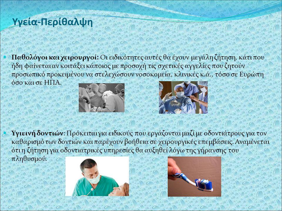 Υγεία-Περίθαλψη Παθολόγοι και χειρουργοί: Οι ειδικότητες αυτές θα έχουν μεγάλη ζήτηση, κάτι που ήδη φαίνεται αν κοιτάξει κάποιος με προσοχή τις σχετικ