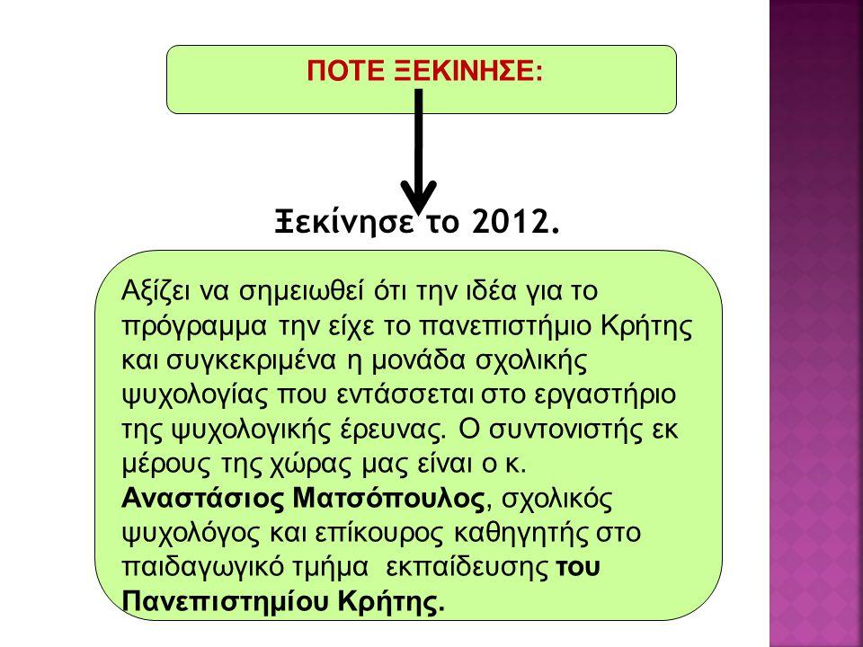 Ξεκίνησε το 2012.