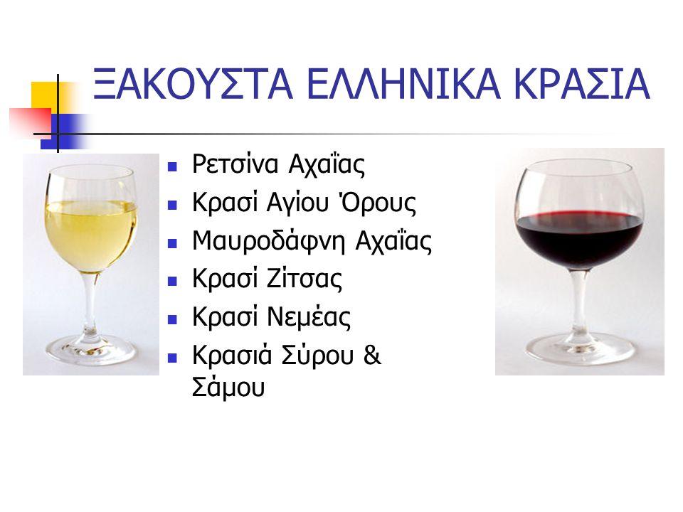 3.Ξενικής προέλευσης ποικιλίες Chardonnay-λευκό Cabernet Sauvignon-ερυθρό Grenache-ερυθρό Merlot-ερυθρό