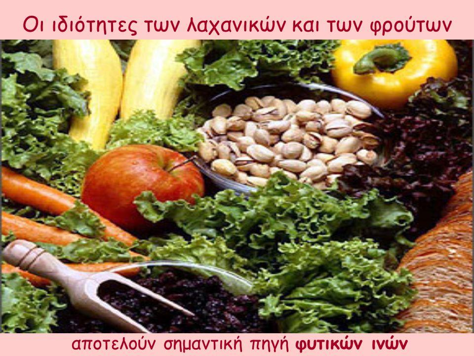 αποτελούν σημαντική πηγή φυτικών ινών Οι ιδιότητες των λαχανικών και των φρούτων