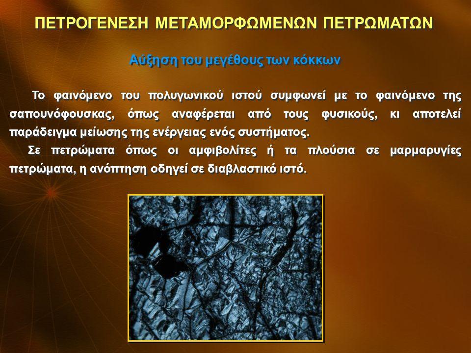 Η δύναμη που οδηγεί στην ανόπτηση είναι η τάση του πετρώματος να μειώσει την εσωτερική του ενέργεια.