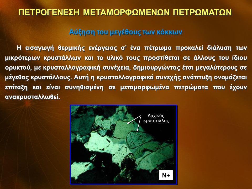 Ένα από τα γεγονότα που συμβαίνουν κατά την ανακρυστάλλωση των ορυκτών, όχι σε όλα τα μεταμορφωμένα πετρώματα, είναι η ανάπτυξη πορφυροβλαστών.