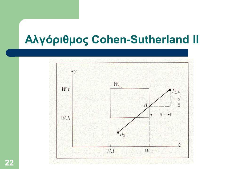 22 Αλγόριθμος Cohen-Sutherland II