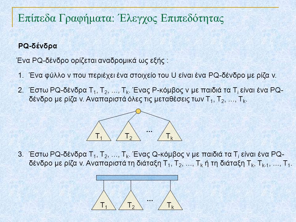 Επίπεδα Γραφήματα: Έλεγχος Επιπεδότητας TexPoint fonts used in EMF.