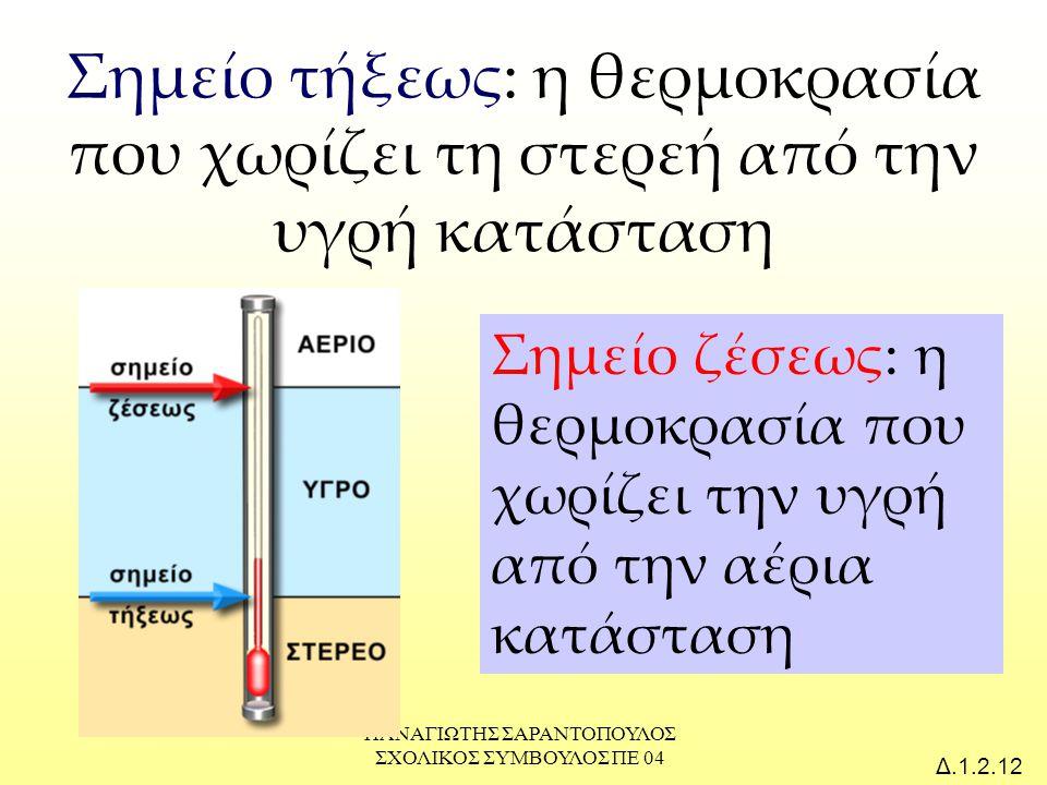 ΠΑΝΑΓΙΩΤΗΣ ΣΑΡΑΝΤΟΠΟΥΛΟΣ ΣΧΟΛΙΚΟΣ ΣΥΜΒΟΥΛΟΣ ΠΕ 04 Δ.1.2.13 Στερεό (s), υγρό (l) ή αέριο (g); Ποια είναι η φυσική κατάσταση του θείου στους 0 ο C; Είναι στερεό (s)