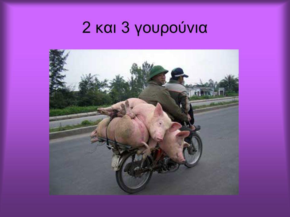 2 και 3 γουρούνια