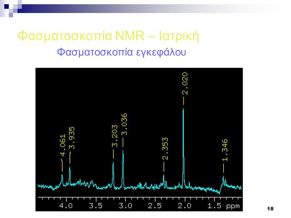 18 Φασματοσκοπία NMR – Ιατρική Φασματοσκοπία εγκεφάλου
