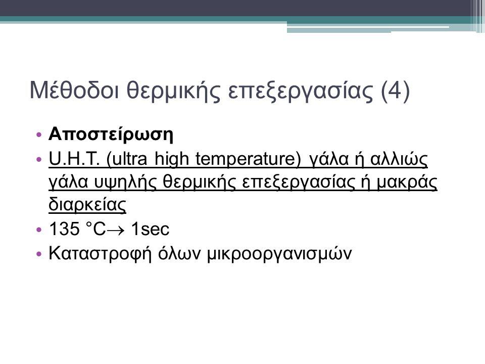 Μέθοδοι θερμικής επεξεργασίας (4) Αποστείρωση U.H.T.