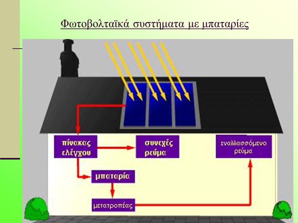 Τα φωτοβολταϊκά συστηματα με μπαταρίες είναι μία πολύ αξιόπιστη λύση για την ηλεκτροδότηση ενός χώρου ή μηχανήματος 24 ώρες το 24ωρο, με βροχή ή λιακάδα.