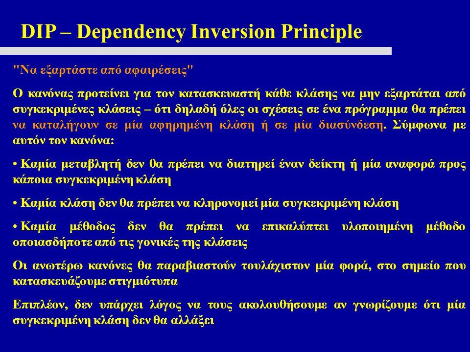 DIP – Dependency Inversion Principle