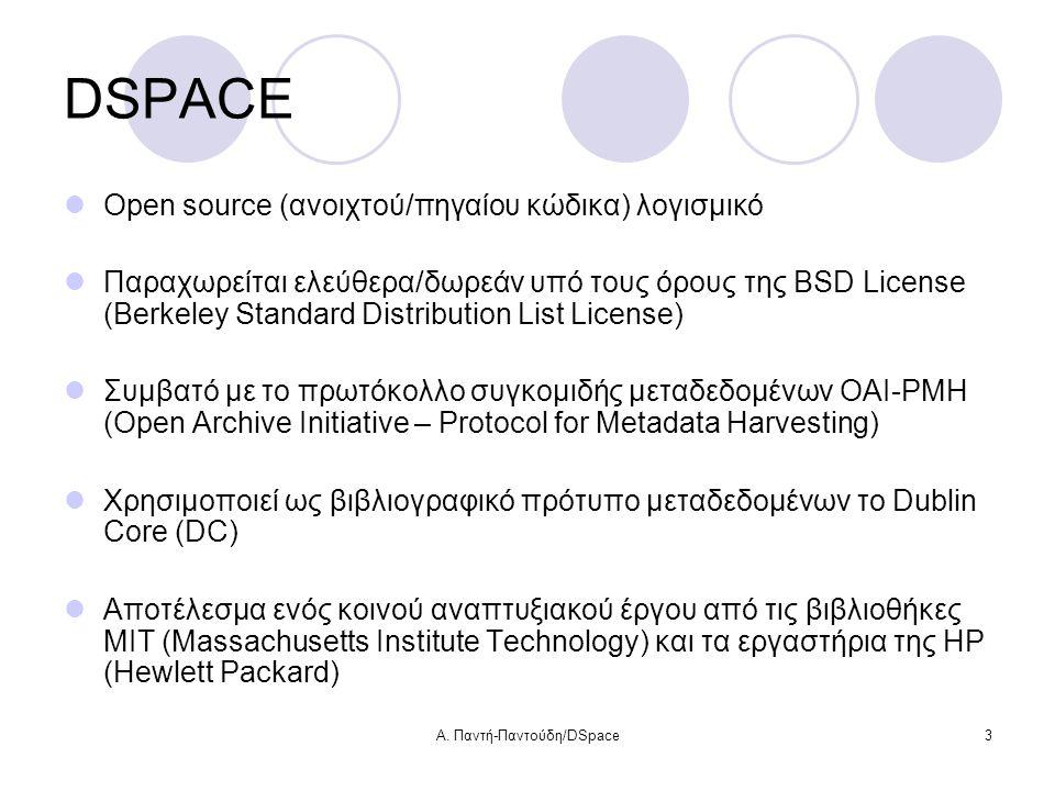Α. Παντή-Παντούδη/DSpace34 Έλεγχος πρόσβασης