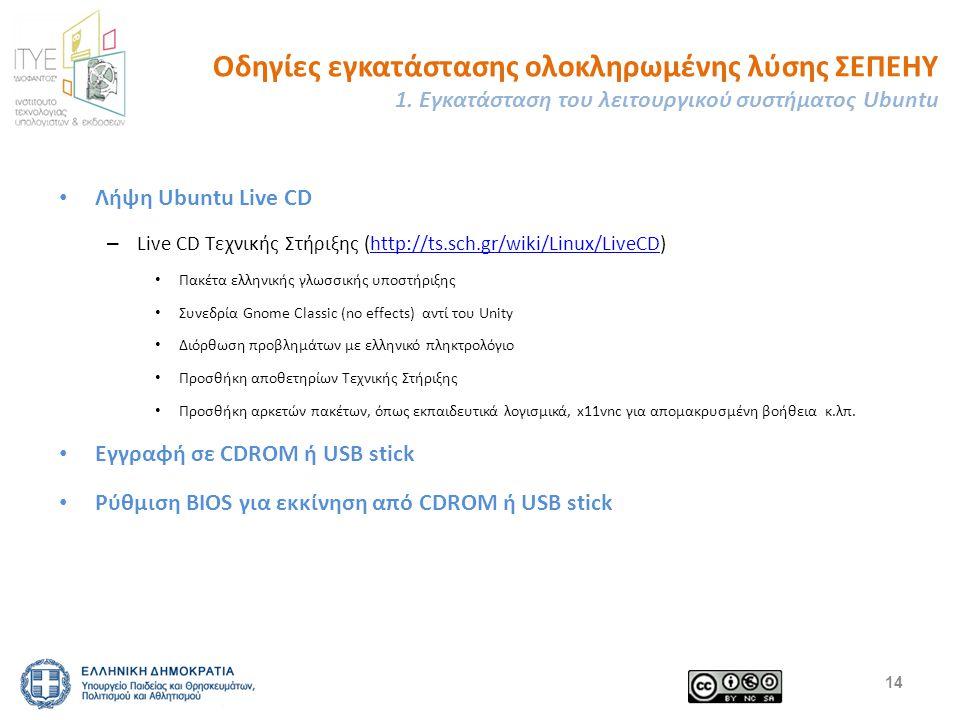 Οδηγίες εγκατάστασης ολοκληρωμένης λύσης ΣΕΠΕΗΥ 1.