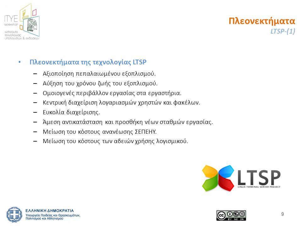 Πλεονεκτήματα LTSP-(1) Πλεονεκτήματα της τεχνολογίας LTSP – Αξιοποίηση πεπαλαιωμένου εξοπλισμού.