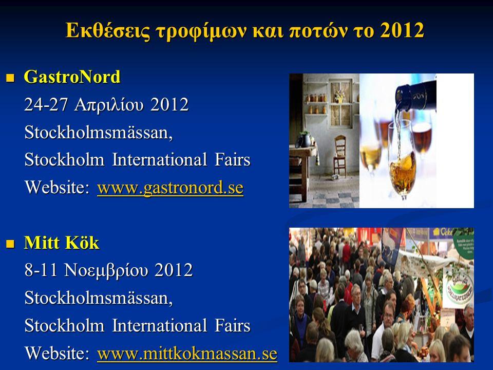 Εκθέσεις τροφίμων και ποτών το 2012 GastroNord GastroNord 24-27 Απριλίου 2012 24-27 Απριλίου 2012 Stockholmsmässan, Stockholmsmässan, Stockholm Intern