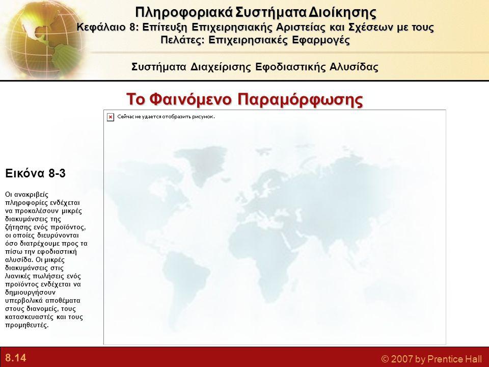 8.14 © 2007 by Prentice Hall Πληροφοριακά Συστήματα Διοίκησης Κεφάλαιο 8: Επίτευξη Επιχειρησιακής Αριστείας και Σχέσεων με τους Πελάτες: Επιχειρησιακέ