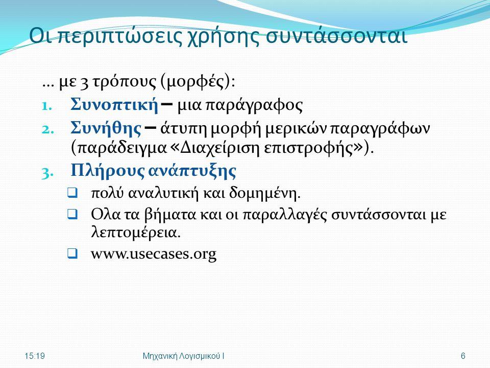Ι. Δεληγιάννης, Τμ. Πληροφορικής ΤΕΙ-ΘUNIFIED PROCESS - ΑΝΑΛΥΣΗ27