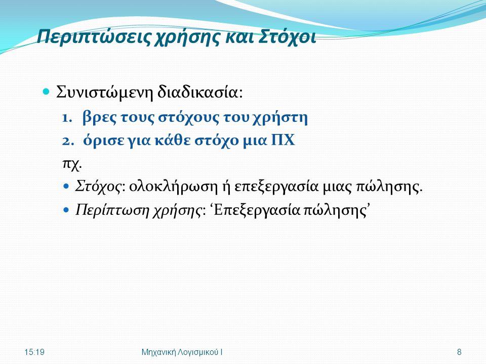 Ι. Δεληγιάννης, Τμ. Πληροφορικής ΤΕΙ-ΘUNIFIED PROCESS - ΑΝΑΛΥΣΗ29