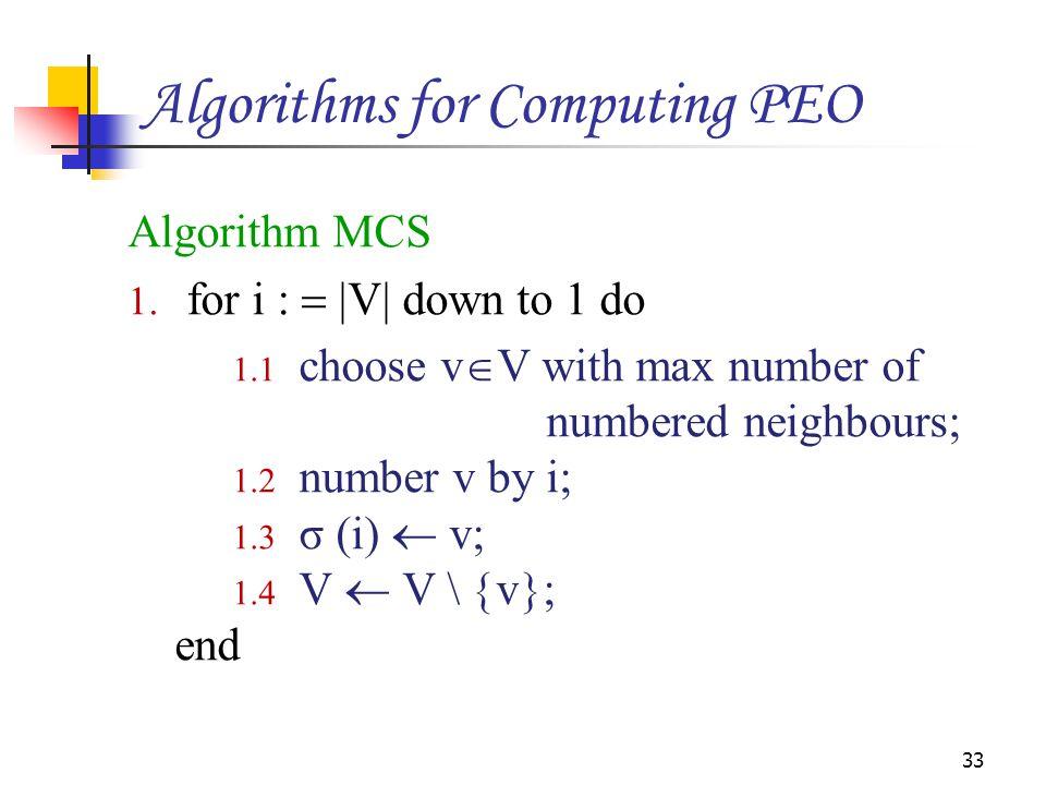 Algorithm MCS 1.