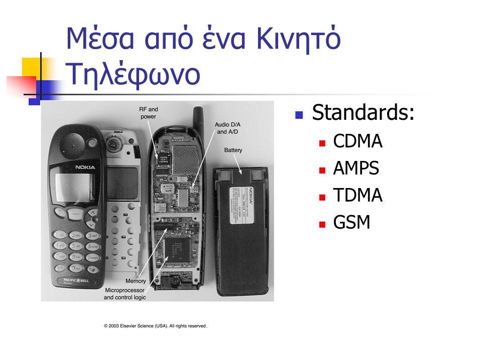 Μέσα από ένα Κινητό Τηλέφωνο Standards: CDMA AMPS TDMA GSM