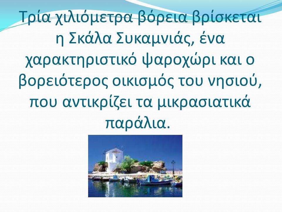 Στη Συκαμιά βρίσκεται το πατρικό του Στρατή Μυριβήλη του πασίγνωστου Έλληνα συγγραφέα, το οποίο είναι ανοιχτό στους επισκέπτες.